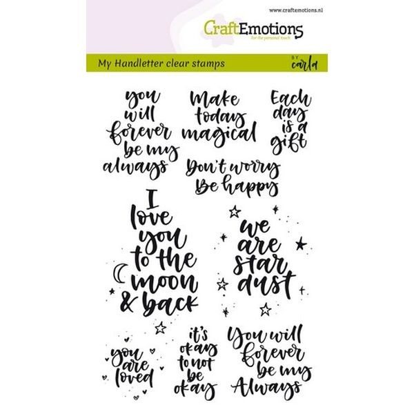 Craft Emotions Clearstamps Handlettering Happy Feelings