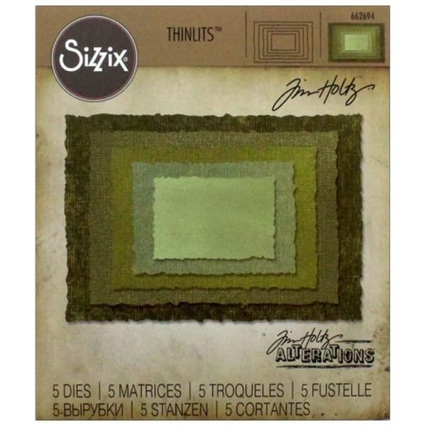 Tim Holtz Alterations Thinlits Stacked Deckle