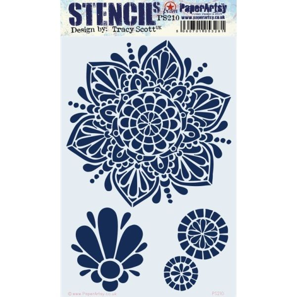 Paper Artsy Stencil Large 210 by Tracy Scott