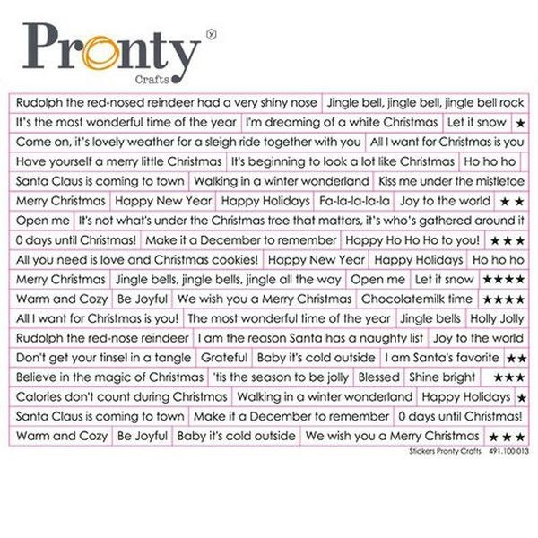 Pronty Stickers Christmas Text