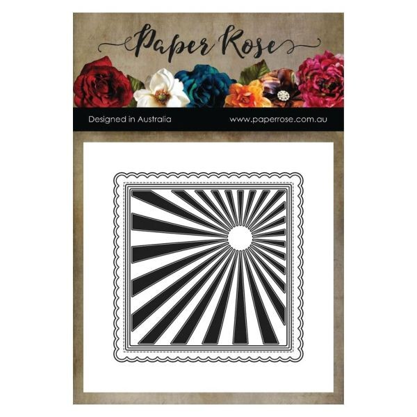 Paper Rose Die Sunray Background