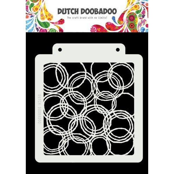 Dutch Doobadoo Mask Stencil 6x6 Grunge Circles