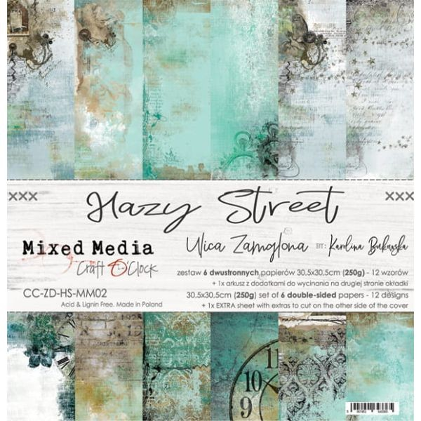 Craft o´Clock Hazy Street A Set of Papers 12x12