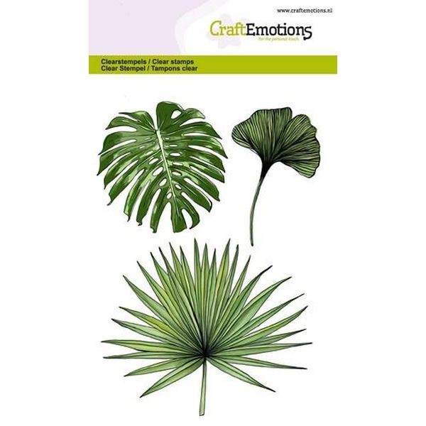 Craft Emotions Clearstamps Tropical Leaves