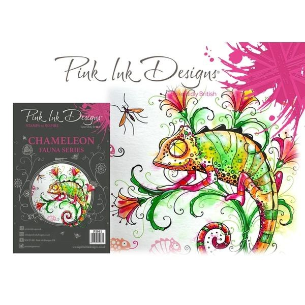 Pink Ink Designs Clearstamp Set Chameleon
