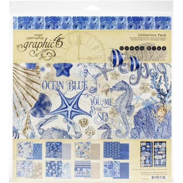 Graphic 45 Ocean Blue Collection Pack 12x12