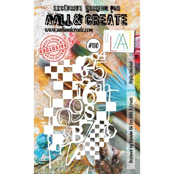 AALL & Create Stencil A6 No. 110 Digits Checked