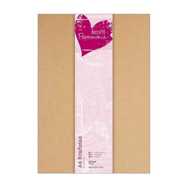 Papermania Kraft Stax A4 25er