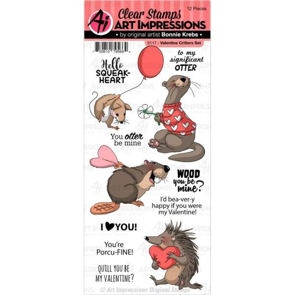Art Impressions Clearstamps Valentine Critters
