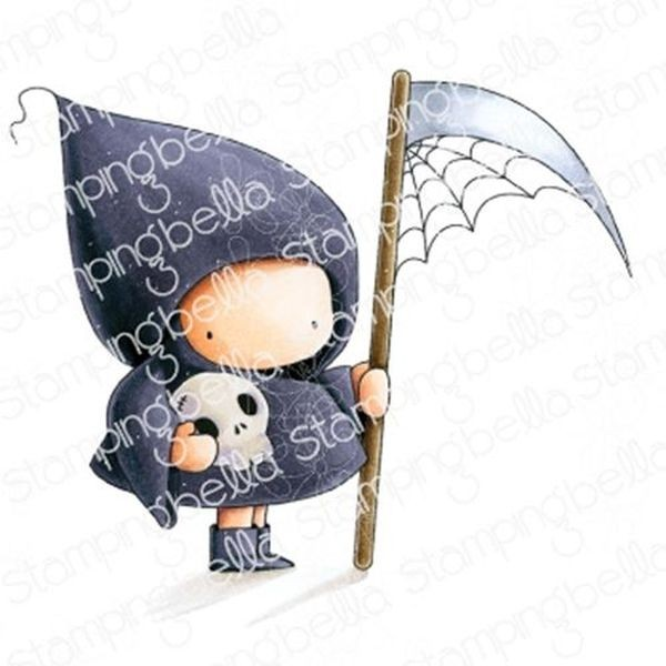 Stamping Bella Clingstamps Bundle Girl Grim Reaper