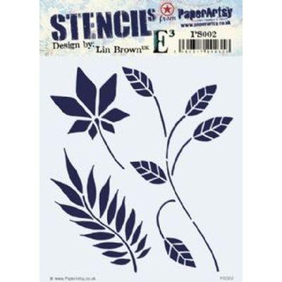 Paper Artsy Stencil 002 Lin Brown