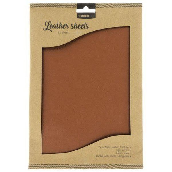 Studio Light Fake Leather Sheets Light Brown