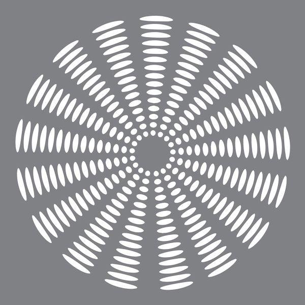 Andy Skinner Stencil 8x8 Sunburst