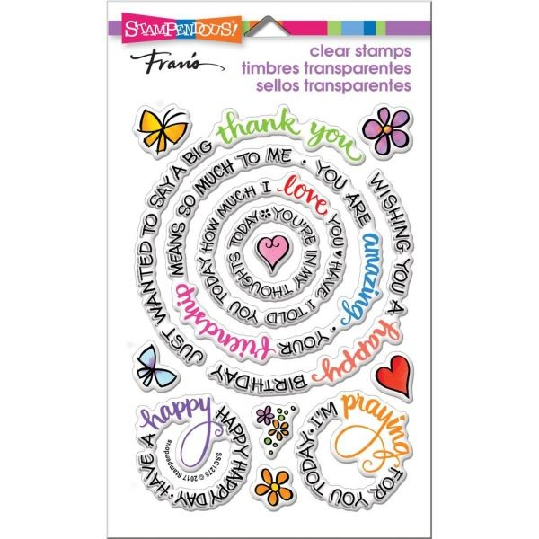 Stampendous Clearstamps Circular Messages