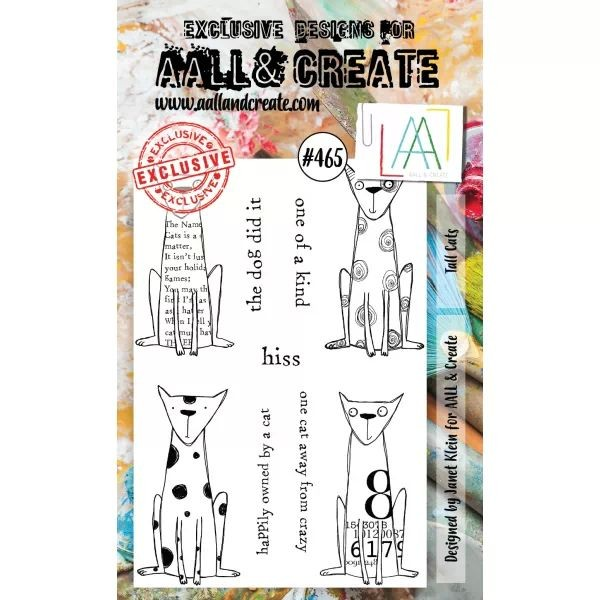 AALL & Create Clearstamps A6 No. 465 Tall Cats