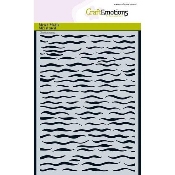 Craft Emotions Mask Stencil Waves
