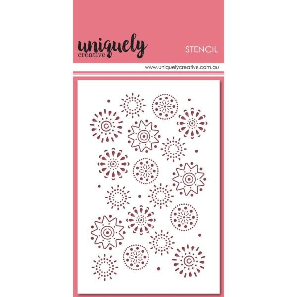 Uniquely Creative Stencils 4x6 Arty Elements