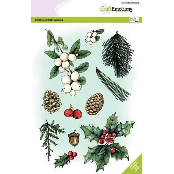 Craft Emotions Clearstamps A5 Floral Christmas No.1