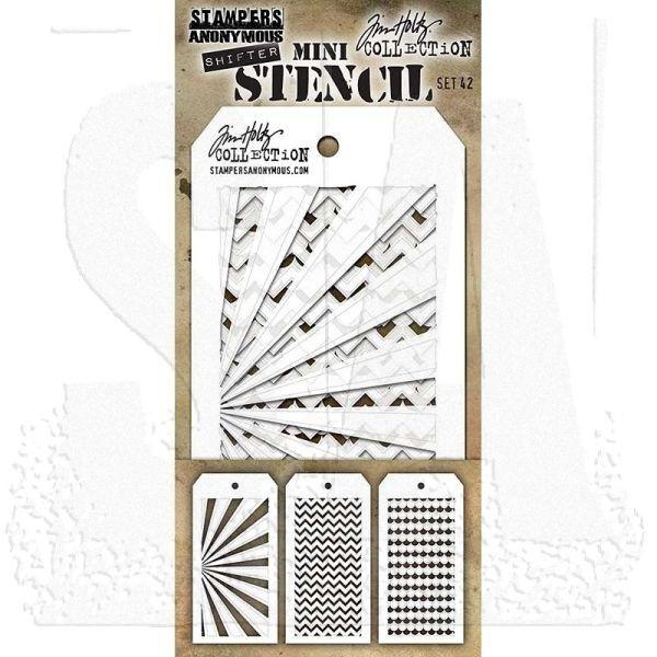 Tim Holtz Mini Stencil Set 042 Shifter