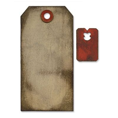Tim Holtz Alterations Movers & Shapers Bigz Tag & Tie