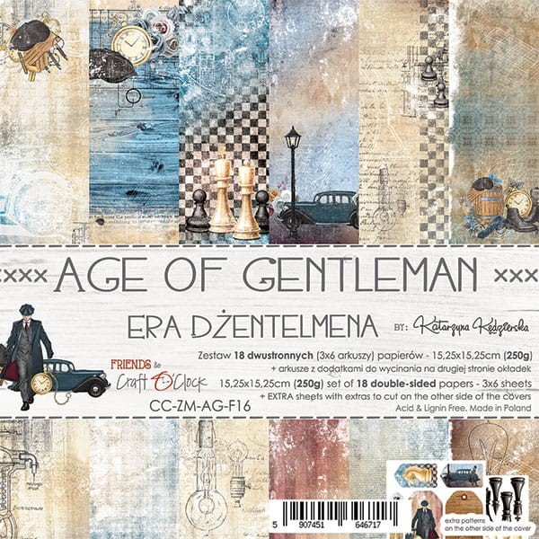 Craft o´Clock Age of Gentleman A Set of Papers 6x6
