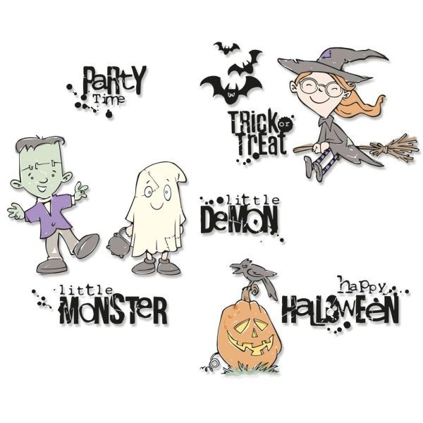 Sizzix Clearstamps Fright Night