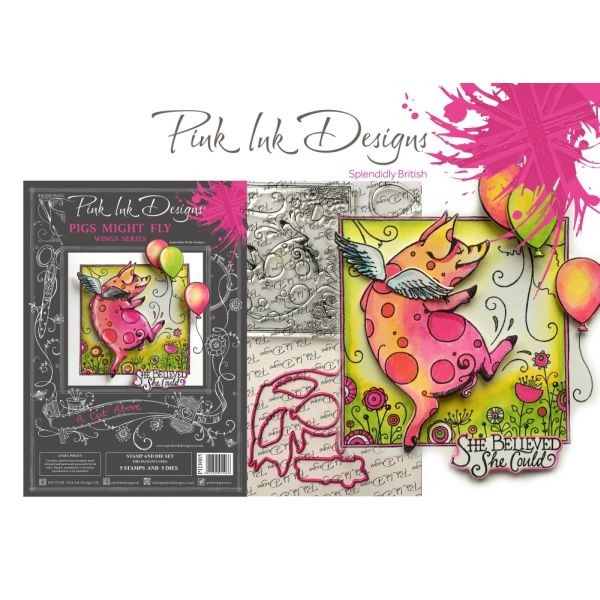 Pink Ink Designs A Cut Above Set Pigs might Fly