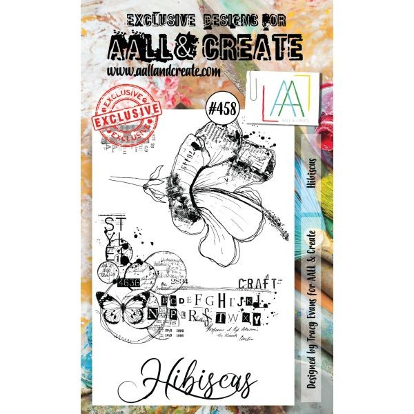 AALL & Create Clearstamps A6 No. 458 Hibiscus