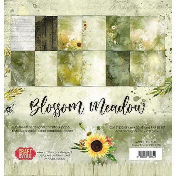 Craft & You Blossom Meadow Big Paper Set 12x12