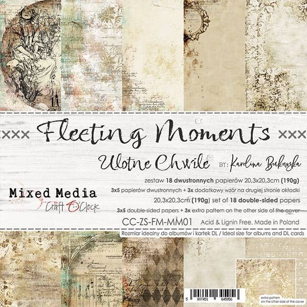 Craft o´Clock Fleeting Moments A Set of Papers 8x8