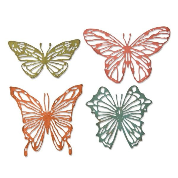 Tim Holtz Alterations Thinlits Scribbly Butterflies