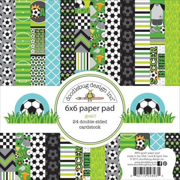 Doodlebug Design Paper Pad 6x6 Goal!!