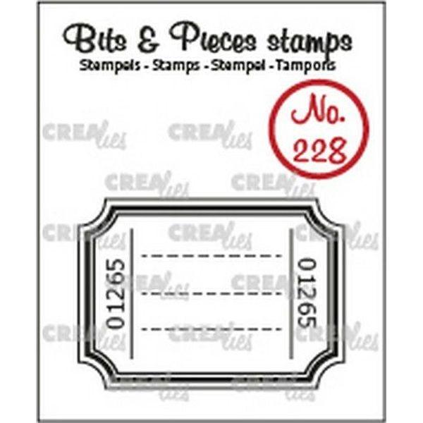 CreaLies Bits & Pieces Clearstamps No. 228 Ticket