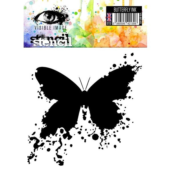 Visible Image Stencil 6x6 Butterfly Ink