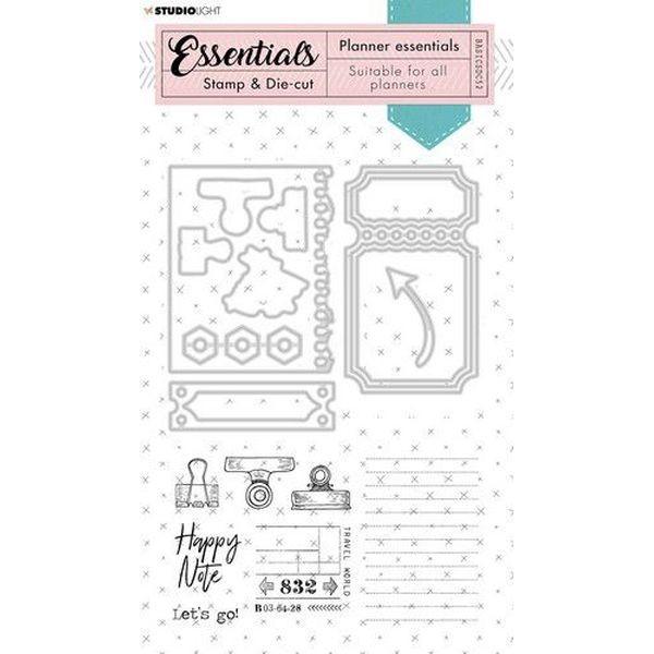 Studio Light Stamp & Die-Cut Planner Essentials No. 52 Grunge