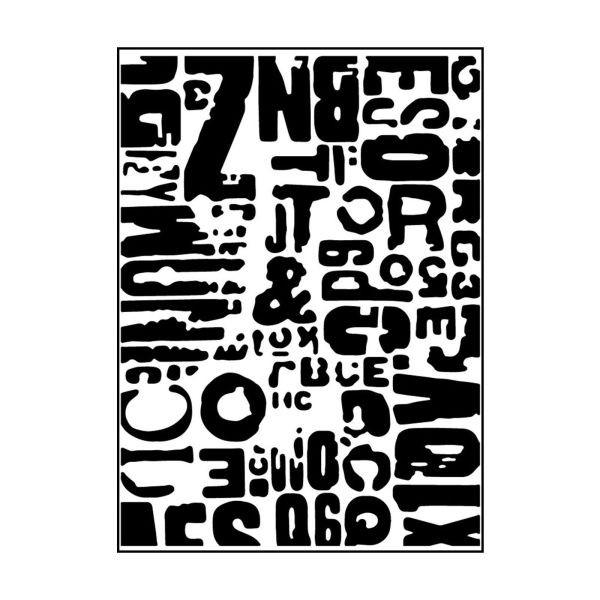 Carabelle Studio Embossingfolder Texte Grunge