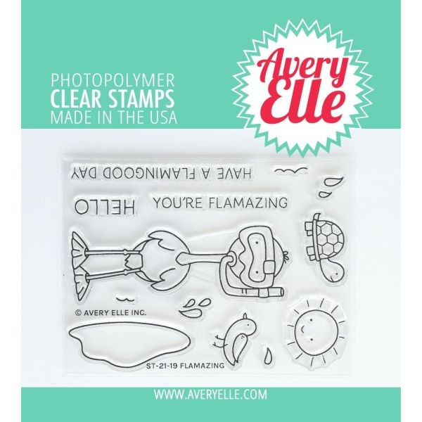 Avery Elle Clearstamps Flamazing