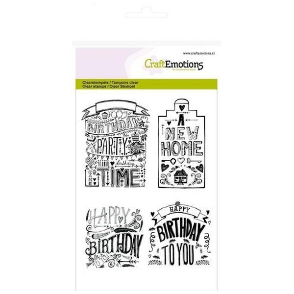 Craft Emotions Clearstamps Handlettering New Home