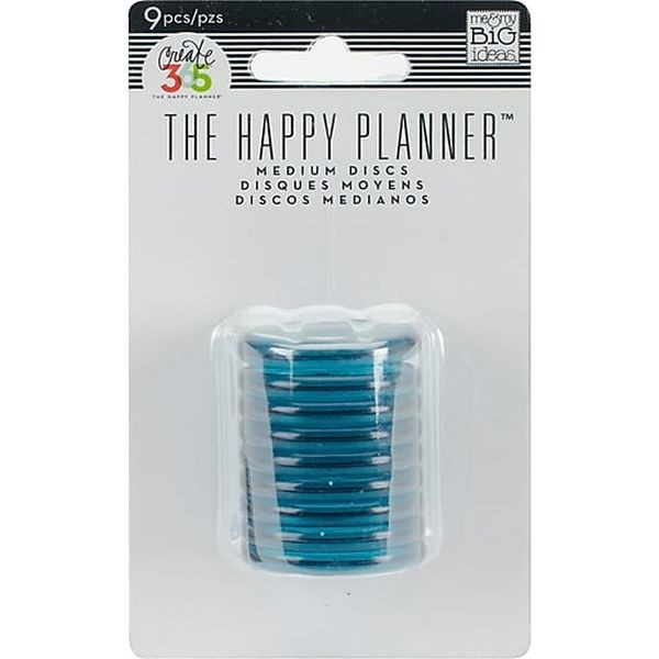 The Happy Planner Discs Medium Translucent Teal
