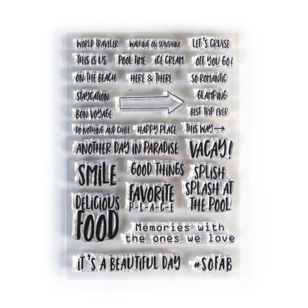 Elisabeth Craft Designs Clearstamps Vacay Phrases