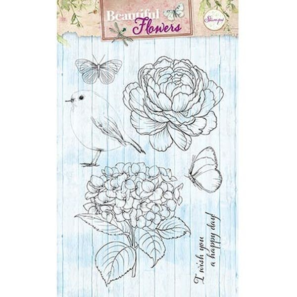 Studio Light Clearstamps A6 Beautiful Flowers 143