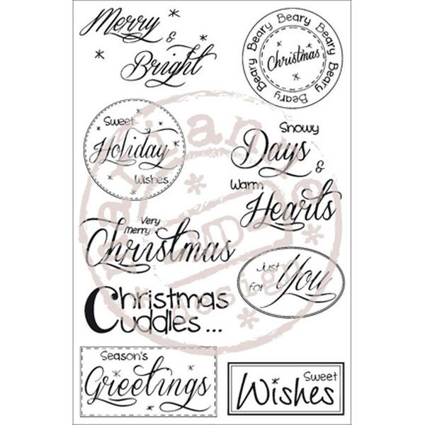 Stampfairy Designs Christmas Sentiments