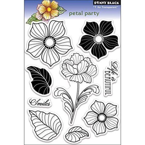 Penny Black T for Transparent - Petal Party