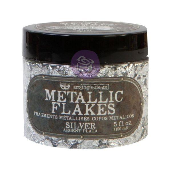 Finnabair Art Ingredients Metallic Flakes Silver