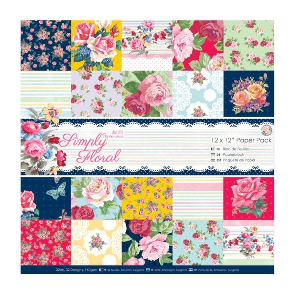 Papermania Simply Floral Paperpack 12x12