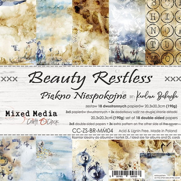 Craft o´Clock Beauty Restless A Set of Papers 8x8