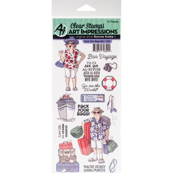 Art Impressions Clearstamps Pack Your Bags