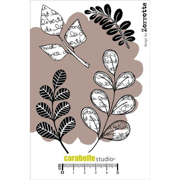 Carabelle Studio Tampon Art Stamp A6 Dans l´Univers des Feuilles