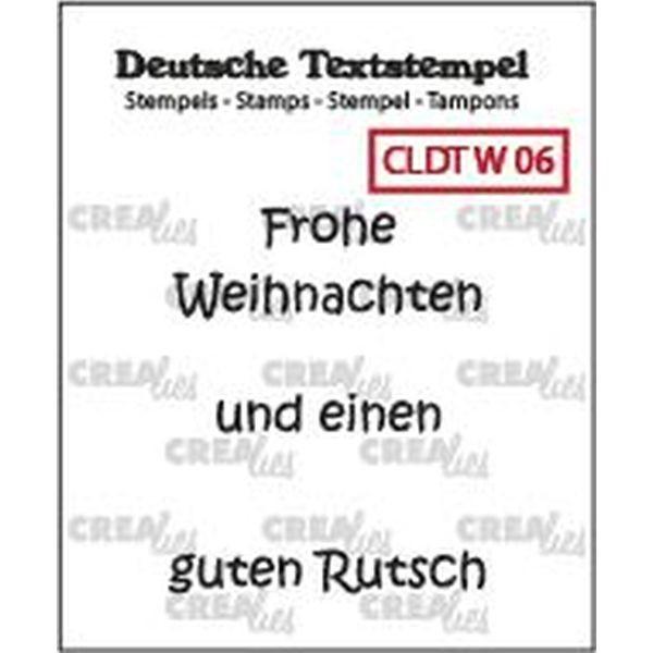 CreaLies Text Clearstamps Frohe Weihnachten 06
