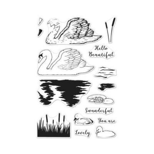 Hero Arts Stamp & Die Bundle Color Layering Swan